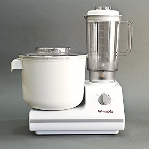 Standard French Whip - Electric Stand Mixer with Bonus Heavy Duty Blender and Attachments - German Design Bread Dough Mixer Machine, High Capacity Bread Mixer - Kitchen Mixer by WonderMix