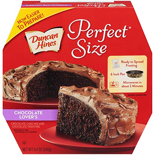 Duncan Hines Perfect Size Chocolate, Lover's Cake & Frosting Mix, 8.4 Ounce