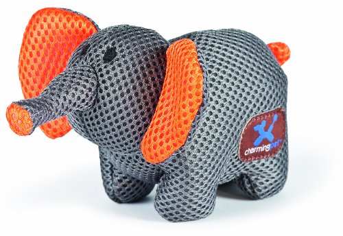 CHARMING Pet Mesh Lil Roamers Pet Squeak Toy, Elephant ()