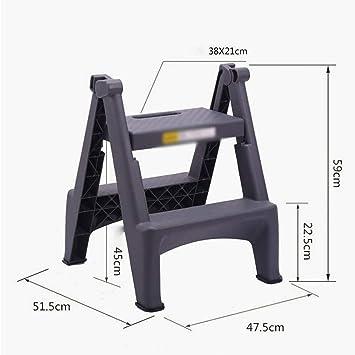 FJX Escaleras de mano, taburete plegable de plástico para interiores de la familia Taburete de 2 escalones, escalera plegable de uso múltiple para el hogar, estanterías de interior,Azul: Amazon.es: Bricolaje y herramientas