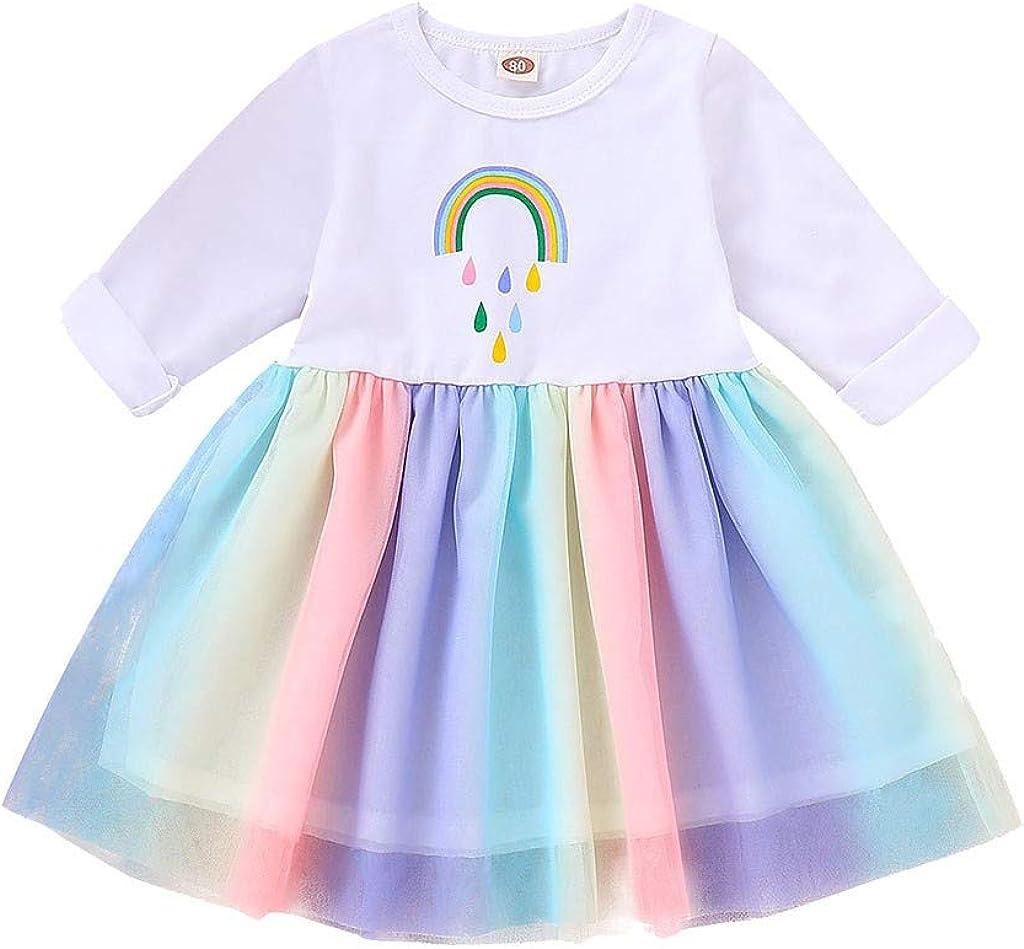 Vectry Vestido Niña Disfraz Niña Bebé Niñas Manga Larga Estampado ...