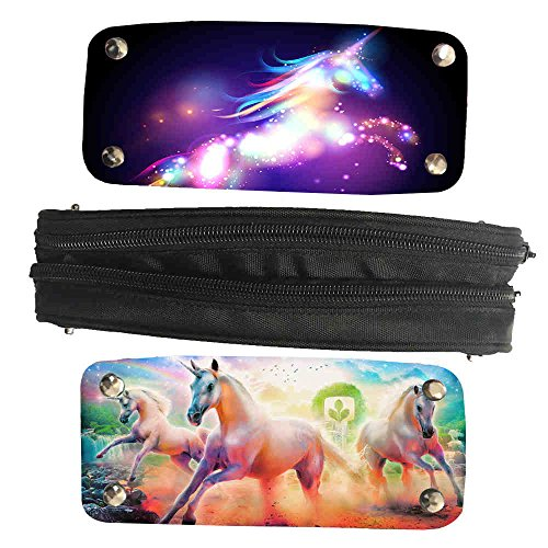 Mingdou Unicorn Pencil Case For Toddler Kids Boys Girls Animal Personalized Holder Tote Pouch Bags(DPUnicorn1) by Mingdou