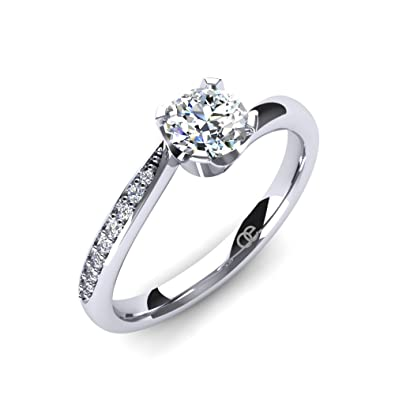 66aeeefb37ce Moncoeur Engagement Rings Immortelle + Cubic Zirconia Engagement Rings +  925 Sterling Silver Wedding Bands +
