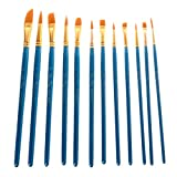 Bettal Stencil Brushes with Palette Set, DIY Art Crafts Paint Brush, 12 pcs/Set
