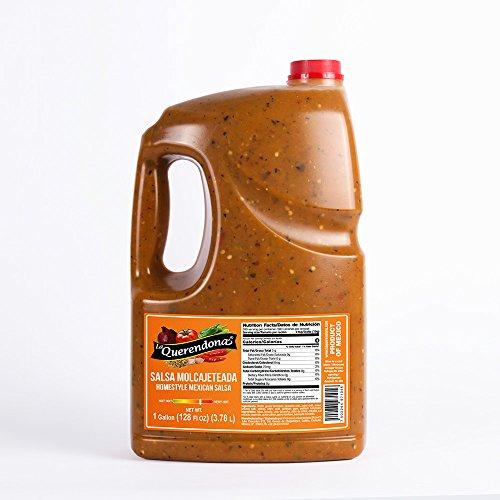 Salsa Molcajeteada (Homestyle Mexican Salsa), 1 Gallon (128 FL OZ) (3.78 L) - By La Querendona