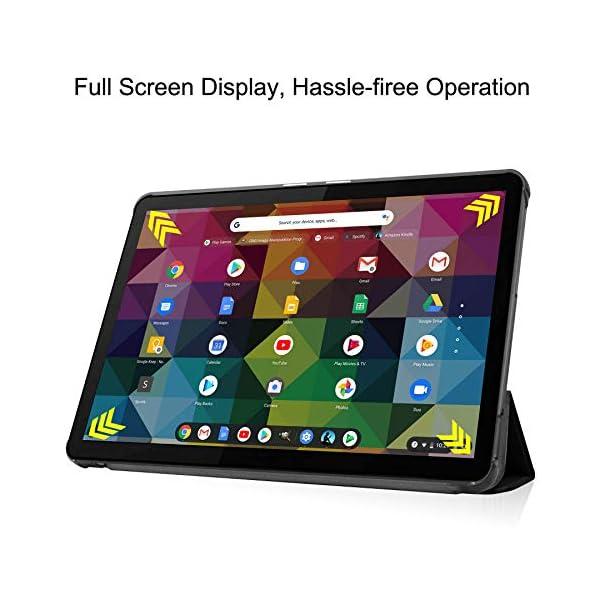 GoYi Coque Compatible avec Lenovo IdeaPad Duet Chromebook 10.1″ 2020, Housse Étui de Protection avec Support Éveille/Veille Auto pour Lenovo IdeaPad Duet Chromebook 10.1 Pouces 2020-Noir
