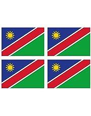 KIWISTAR Stickers 4,5 x 3 cm Namibia - Land Staat autosticker vlag landen wapen vlag sticker kenteken