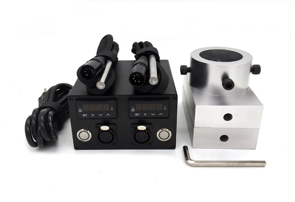 Vossay 3x5'' Rosin Press Plates Kit with Double Electric Temperature Controller and Heating Rods