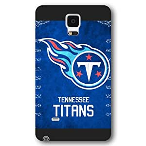 UniqueBox Customized NFL Series Case for Samsung Galaxy Note 4, NFL Team Tennessee Titans Logo Samsung Galaxy Note 4 Case, Only Fit for Samsung Galaxy Note 4 (Black Frosted Shell)