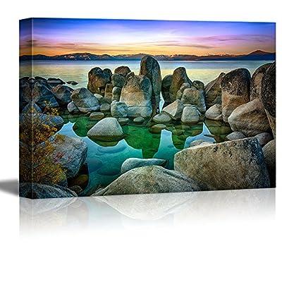 Rocks in a Lake Lake Tahoe Sierra Nevada California USA