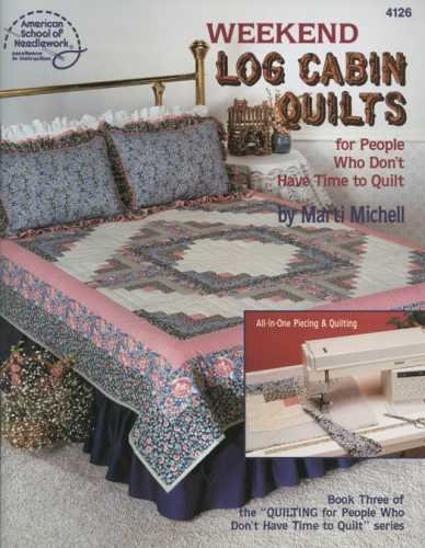 DRG Publishing American School: Weekend Log Cabin Quilts (Cross Stitch Log Cabin)