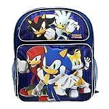 """Medium Backpack - Sonic the Hedgehog - w/Kunckles/Tails 14"""" Bag sh30272"""