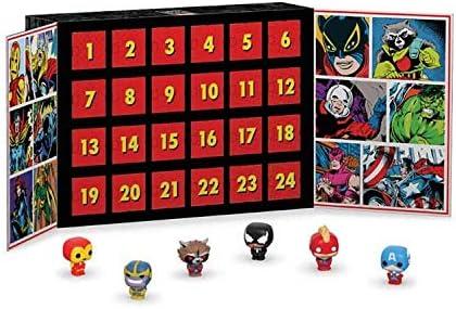 Funko. Marvel Pocket Pop Adventskalender mit 24 Pop! Figuren Iron Man Captain Marvel Thanos
