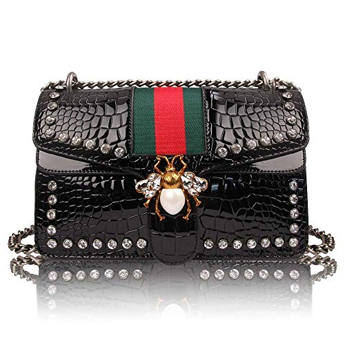 - Women Evening Crossbody Bag, Designer Shoulder Bag for Women, Fashion Bee Crossbody Bag Handbags with Chain