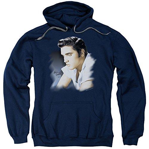Elvis Presley The King Rock Blue Profile Adult Pull-Over Hoodie