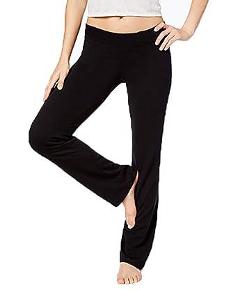 178b59569a8703 HUE Womens Cotton Yoga Leggings Black at Amazon Women's Clothing store: