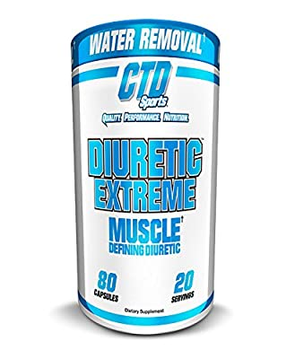 CTD Sports Diuretic Extreme 80 Capsules, Rapid Water Loss for Both Men and Women