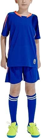 Kits de Camiseta de fútbol para niños Muchachos jóvenes - Manga Corta Camiseta y Pantalones Cortos y Calcetines Traje de Equipo de fútbol de Jersey