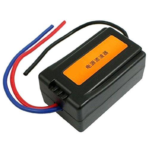 Asdomo DC 12V Pre-wired Black Plastic Audio Power Jacks Noise Filter Ground Loop Isolator Suppressor for ()