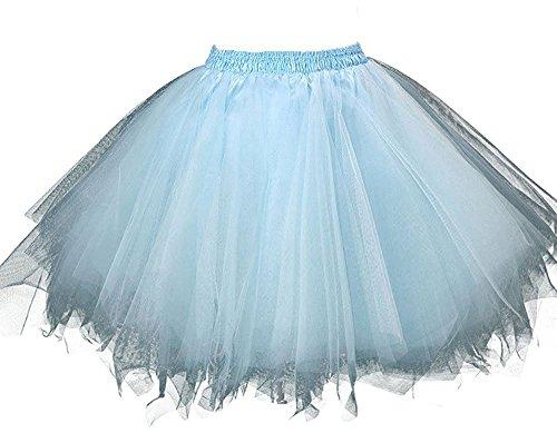 Beyonddress - Falda - enaguas - para mujer azul claro