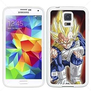 Dragon Ball Manga Comic Slim Vegeta Samsung Galaxy S5 SV I9600 Soft Black or White case (White)