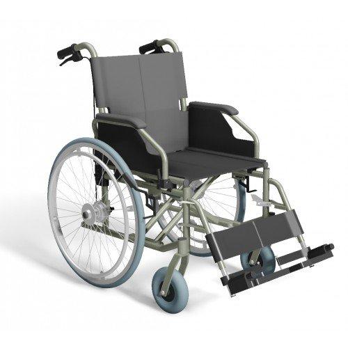 Trendmobil Rollstuhl TMB Faltrollstuhl inkl. Trommelbremse für die Begleitperson - Transportrollstuhl Reiserollstuhl mit Steckachsensystem - Sitzbreite 42 / 45 / 48 oder 51 cm nach Wahl - Personen Trans Porter