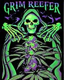 Wowdecor 5D Crystal Diamond Painting with Diamonds Kits, Grim Reefer Skull Terror Halloween, Full Drill DIY Diamond Dotz Embroidery Crafts Graphy Art