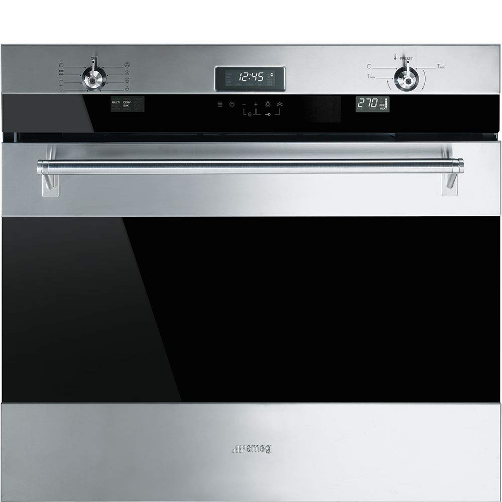Smeg SOU330X1 Classic Aesthetic 30-Inch Stainless Steel Electric Multifunction Wall Oven