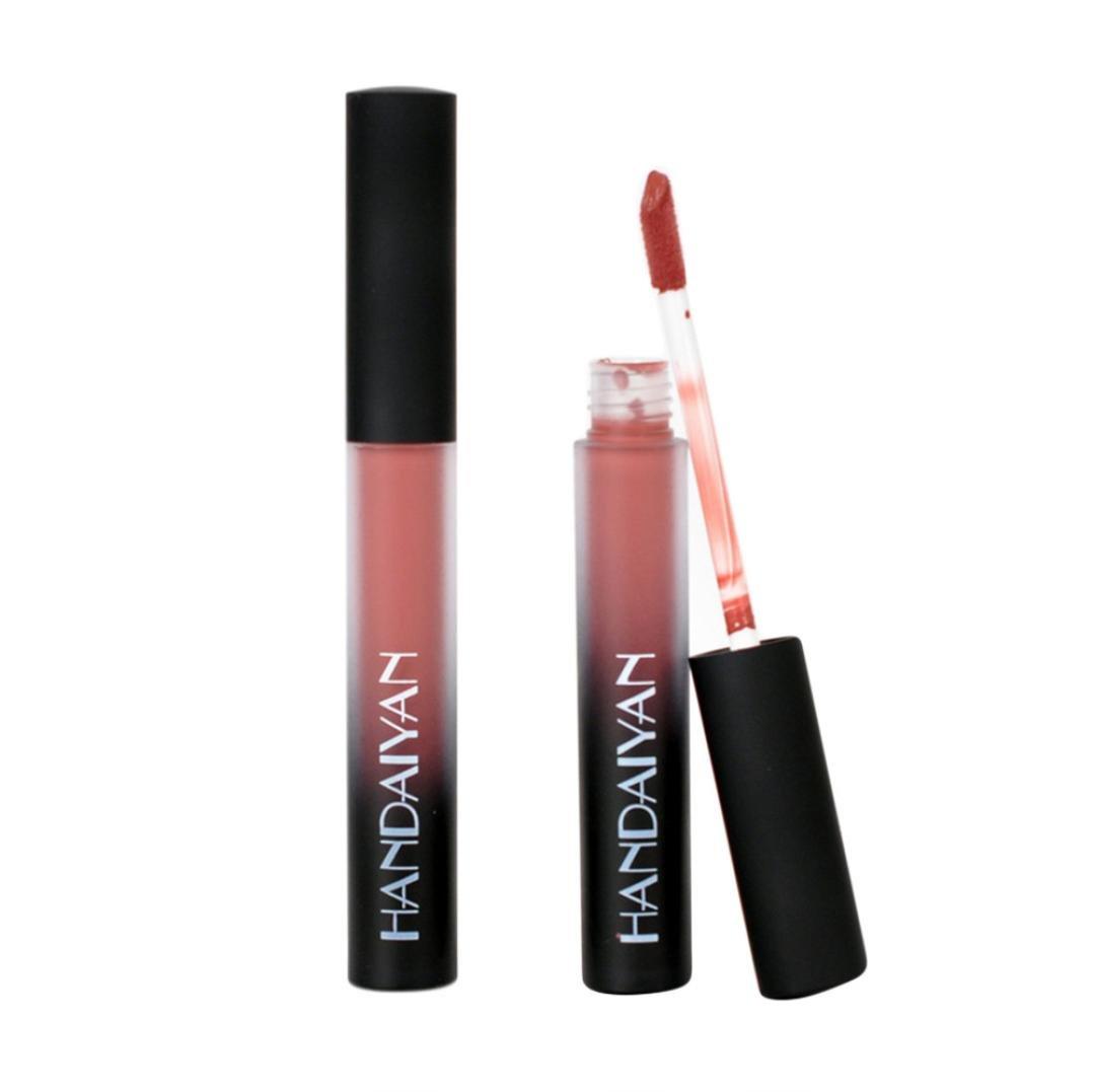 NewKelly Waterproof Long Lasting Liquid Velvet Matte Lipstick Makeup Lip Gloss Lip (D)