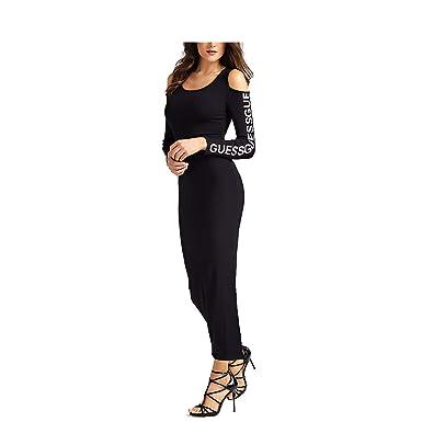 Guess Abito Lungo Stampa Logo Donna: Amazon.it: Abbigliamento