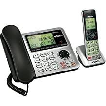 VTech CS6649 Expandable Corded/Cordless Phone System with Answering System-Caller ID/Call Waiting & Handset/Base Speakerphones