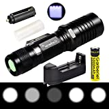 Shine Tool Flashlight 5 Modes 3 x T6 LED Flashlight Adjustable Focus Waterproof Torch With 18650 Battery And Charger