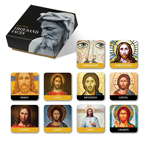10 Piece Refrigerator Magnets Set of Jesus Christ Thousands Faces in a Designed Package The Best Creative Gift for Christian Friends & Family Suitable for Church,Vision Boards,Kitchen Fridge and More ()