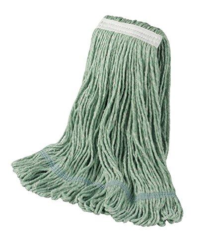 Head Loop End 4 Ply - Bristles Wet Mop Head Loop End 1 Inch Narrow Headband 4 Ply Cotton Synthetic Yarn, Pack of 12 (Large, Green)