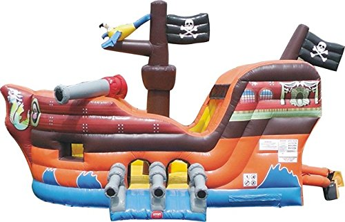 Pirate Ship Bounce House - TentandTable Pirate Ship Bounce House Inflatable Moonwalk with Slide - Includes (1) 1.5 HP Zoom Blower and Free Shipping