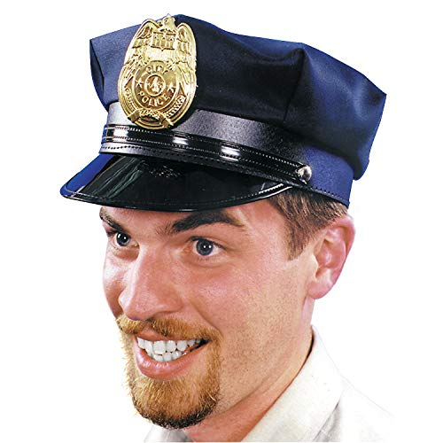 Fun Express - Police Hat Navy 1 Size for Halloween - Apparel Accessories - Costume Accessories - Bulk Accessories - Halloween - 1 Piece ()