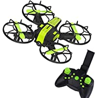 Buolo Quadcopter With Camera X1 2.4G 2.4GHz Plug-in 4-Axis Mini DIY RC Drone Quadcopter Camera FPV (Green)
