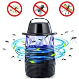 Electric Bug Zapper LED Bug Zapper USB Fly Trap Flying Insect Killer Mosquito Killer Lamp Night Lamp Pest Repellents Pest Control Baits and Lures Bug Zappers Mosquito Dispeller (Black)