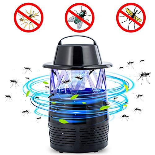 Electric Bug Zapper LED Bug Zapper USB Fly Trap Flying Insect Killer Mosquito Killer Lamp Night Lamp Pest Repellents Pest Control Baits and Lures Bug Zappers Mosquito Dispeller (Black) by Baabyoo