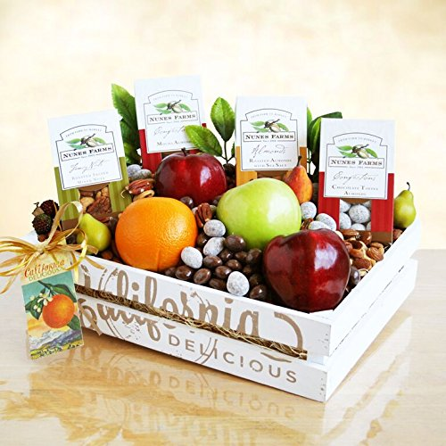 West Coast Fruit & Nuts Gift Basket | Healthy Care Package for College Students