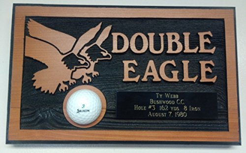 Sandblasted Specialists Double Eagle Golf Plaques - Personalized Engraving On Cedar