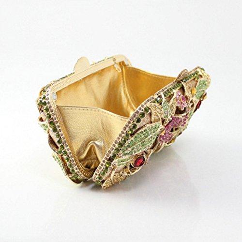 Flower Evening Diamond Women's Fashion Handbag Pink Bag EwZ14q1I