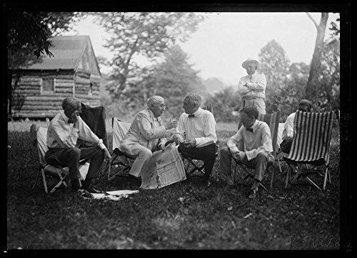 1921 Photo Henry Ford, Thomas Edison,Warren Harding and Harvey Firestone. Firestone camp
