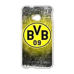 HTC One M7 Cell Phone Case White Borussia Dortmund BVB_003