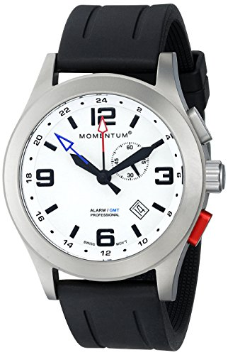 - Momentum Men's 1M-SP58L1B Vortech GMT Analog Display Swiss Quartz Black Watch