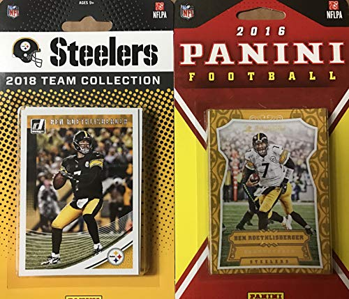 b67f817e1 Pittsburgh Steelers 2 Factory Sealed Team Set Gift Lot Including 2018  Donruss and 2016 Panini Team Sets Featuring Ben Roethlisberger