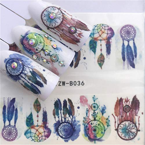 1 Pcs Skull Halloween Plant Nail Sticker Water Decals Women White Flower Cat Butterfly Transfer Nail Art Decoration Chocolate -