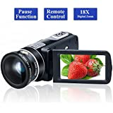 Camcorder Video Camera Full HD 1080P 24.0MP Digital Camera 18x Digital Zoom 2.7 LCD with Wide Angle Close-up Lens