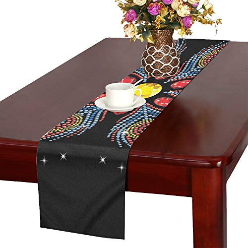 Applique Tshirt Hotfix Transfer Motif Table Runner, Kitchen Dining Table Runner 16 X 72 Inch for Dinner Parties, Events, Decor ()