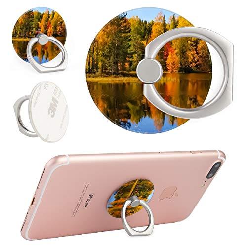 Ring Phone Holder Bracket Stand Kickstand for Smartphones,Tablets,Pads-Village Autumn Tree Redwood